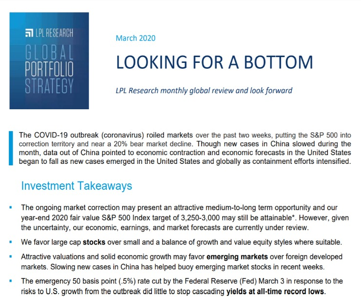 Global Portfolio Strategy | March 10, 2020